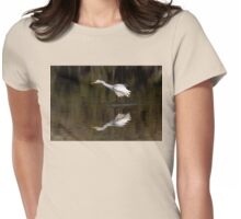 Great Egret ~ Scruffy  Womens Fitted T-Shirt