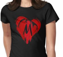 M - GRAFFITI HEART Womens Fitted T-Shirt