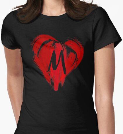 M - GRAFFITI HEART Womens Fitted T-Shirt