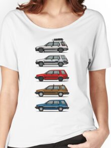 Stack Of Toyota Tercel Sr5 4wd Al25 Wagons Women's Relaxed Fit T-Shirt