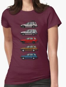 Stack Of Toyota Tercel Sr5 4wd Al25 Wagons Womens Fitted T-Shirt