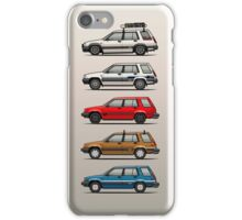 Stack Of Toyota Tercel Sr5 4wd Al25 Wagons iPhone Case/Skin