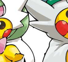 Mega Gardevoir & Mega Gallade Poncho Pikachu Sticker