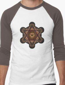 Metatron's Cube ~ Sacred Geometry Men's Baseball ¾ T-Shirt