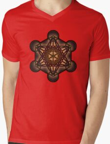 Metatron's Cube ~ Sacred Geometry Mens V-Neck T-Shirt