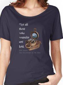 Not all Those who Wander are Lost, Tolkien, LOTR (plain background) Women's Relaxed Fit T-Shirt