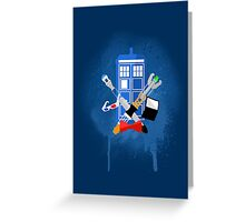 DOCTOR WHO - SPRAY PAINT DESIGN Greeting Card