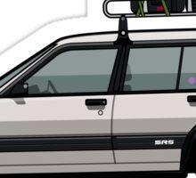 Toyota Tercel SR5 4WD Slammed Wagon AL25 white Sticker