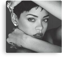 Rihanna Face by amdya Canvas Print