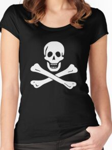 Edward England Pirate Flag Women's Fitted Scoop T-Shirt