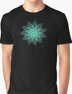 Fractal Flower - Green . Graphic T-Shirt