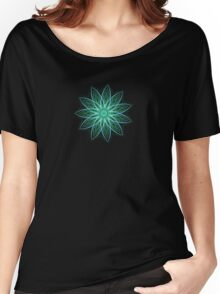 Fractal Flower - Green . Women's Relaxed Fit T-Shirt