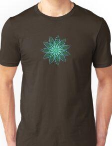 Fractal Flower - Green . Unisex T-Shirt