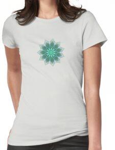 Fractal Flower - Green . Womens Fitted T-Shirt