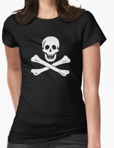 Samuel Bellamy Pirate Flag Womens Fitted T-Shirt