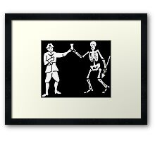 Black Bart Pirate Flag Framed Print