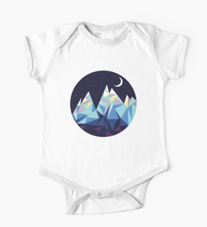 Night Time Mountains One Piece - Short Sleeve