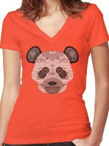 geo bear Women's Fitted V-Neck T-Shirt