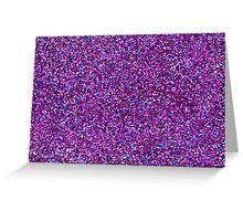 Purple Glitter and Bokeh Photograph Pattern Greeting Card