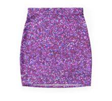 Purple Glitter and Bokeh Photograph Pattern Mini Skirt