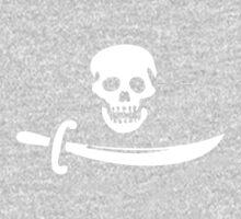 Black Bart Pirate Flag One Piece - Short Sleeve