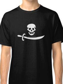 Black Bart Pirate Flag Classic T-Shirt