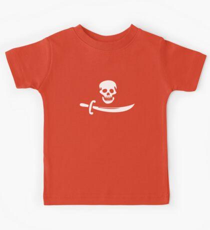 Black Bart Pirate Flag Kids Tee