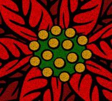 Poinsettia Flower Sticker