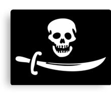Black Bart Pirate Flag Canvas Print