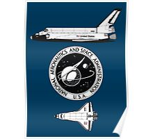 NASA Graphics Standards Manual - Space Shuttle and Logo Combined Poster