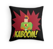 Kaboom guy  Throw Pillow