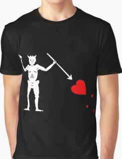 Edward Teach Pirate Flag Graphic T-Shirt