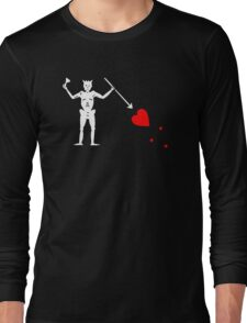 Edward Teach Pirate Flag Long Sleeve T-Shirt