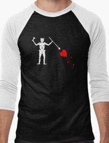 Edward Teach Pirate Flag Men's Baseball ¾ T-Shirt