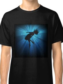 diving girl in flippers  Classic T-Shirt