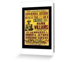 Hank Williams In Person Jamboree Greeting Card