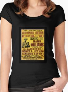 Hank Williams In Person Jamboree Women's Fitted Scoop T-Shirt