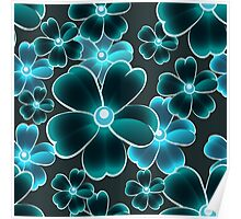 seamless color flower pattern Poster