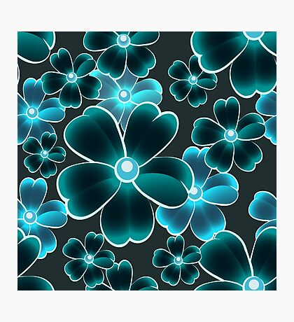seamless color flower pattern Photographic Print