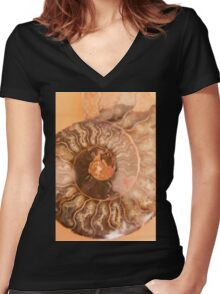 abstract background with mineral stones Women's Fitted V-Neck T-Shirt