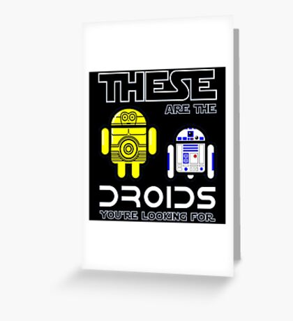 Droids Greeting Card