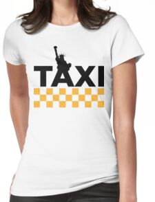 New York Taxi Womens Fitted T-Shirt