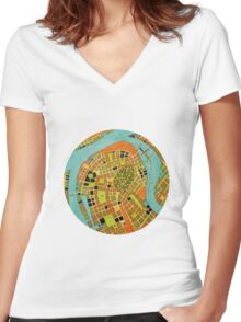 cypher number 19 - koblenz  (original sold) Women's Fitted V-Neck T-Shirt