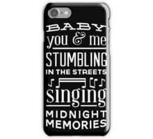 Midnight Memories Quote iPhone Case/Skin