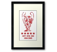 Liverpool FC - Champions League Winners Framed Print