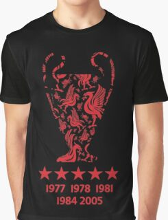 Liverpool FC - Champions League Winners Graphic T-Shirt