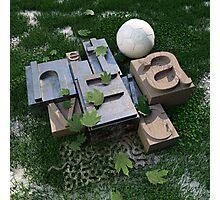 Helvetica Type Photographic Print