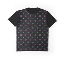 Playstation Pattern Graphic T-Shirt