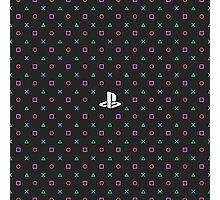 Playstation Pattern Photographic Print
