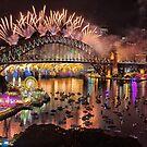 Sydney NYE Fireworks 2015 # 16 by Philip Johnson